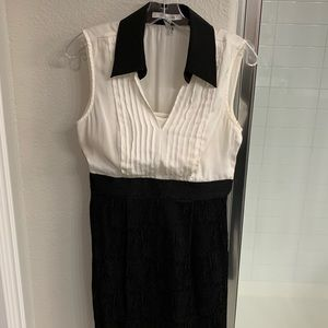 Max and Cleo size 4 black and white dress
